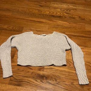 Athleta knit  crop sweater size S